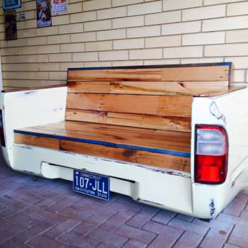Old Car Parts and Pallets Upcycled Into a Beautiful Bench