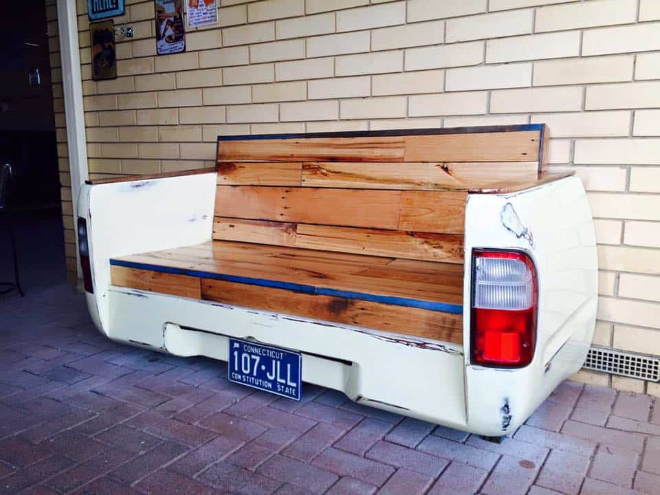 Old Car Parts and Pallets Upcycled Into a Beautiful Bench • 1001 Pallets