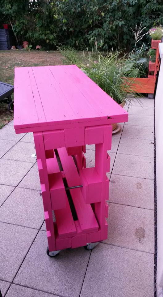 Outdoor Pallet Bar On Wheels DIY Pallet Bars