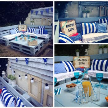 Pallet Garden Nautical Furniture Set And Sign