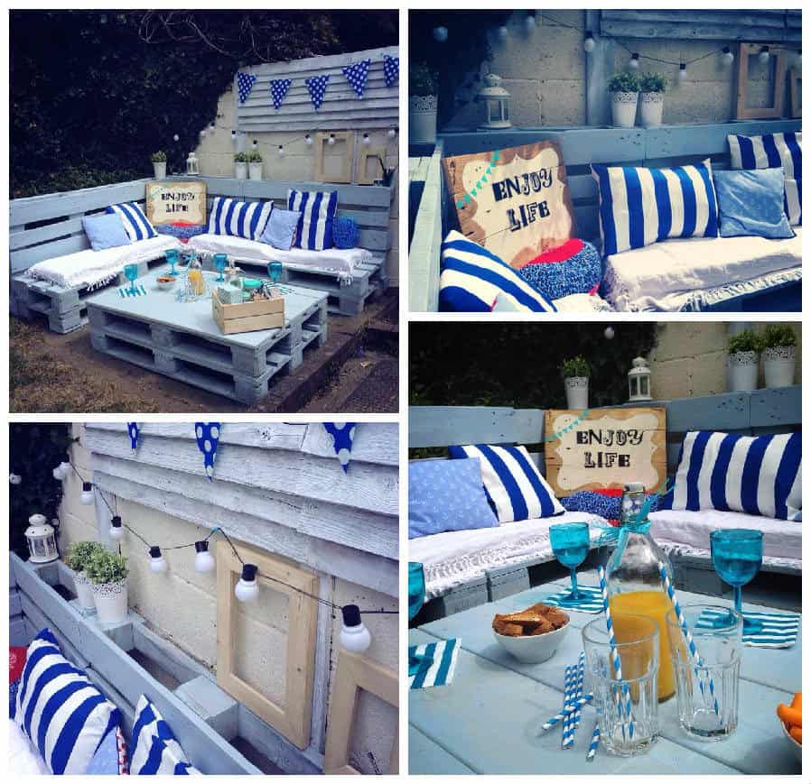 Pallet Garden Nautical Furniture Set And Sign 1001 Pallets