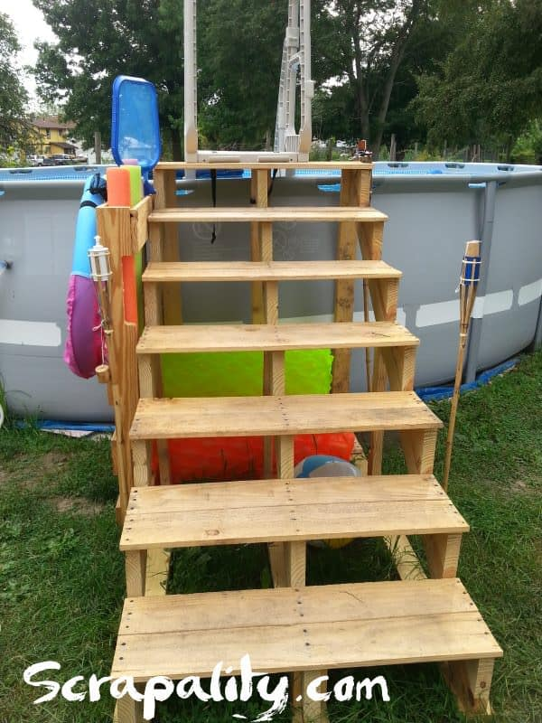 Pallet Pool Steps With Noodle Storage 1001 Pallets