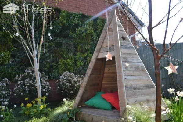 Pallet Teepee Fun Pallet Crafts for KidsPallet Sheds, Pallet Cabins, Pallet Huts & Pallet Playhouses