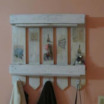 Perchero / Pallet Coat Hanger & Shelf