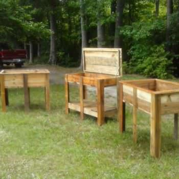 Planter Set With Potting Bench