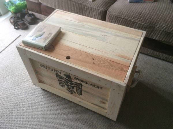 Raiders Pallet Box/Coffee Table Pallet Boxes & Chests Pallet Coffee Tables