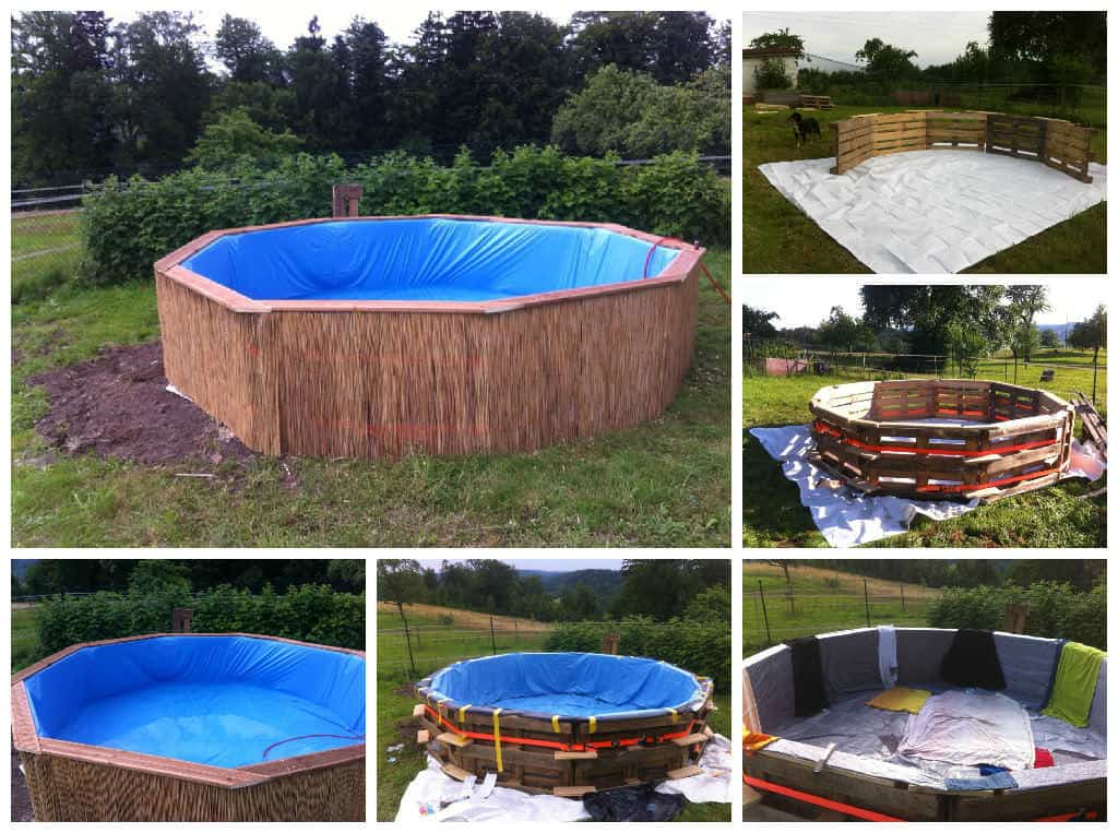 Swimming pool made out of wooden pallets for under 80 1001 pallets for Make a swimming pool out of pallets
