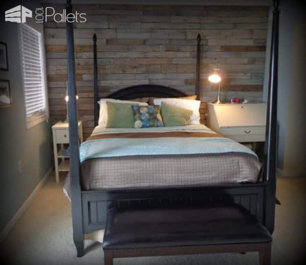 Warm & Rustic Pallet Wood Wall Pallet Walls & Pallet Doors
