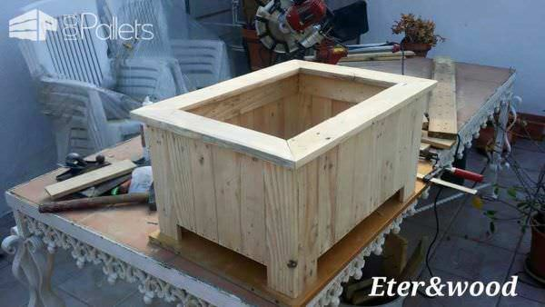 Window Pallet Planter Pallet Planters & Pallet Compost