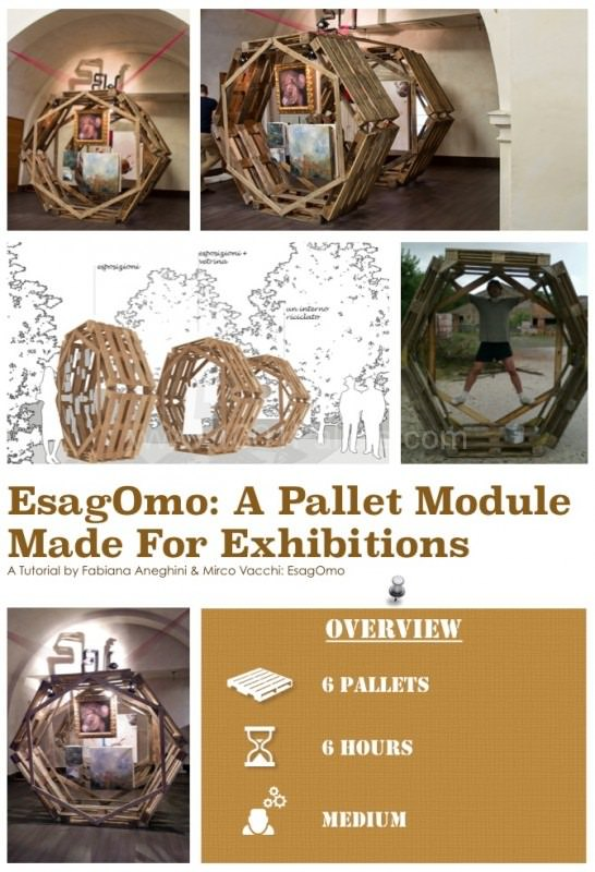 Diy Tutorial: A Pallet Module for Exhibitions (Esagomo) Step-By-Step Printable Pallet PDF Tutorials