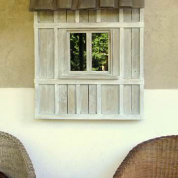 Decorative Window Made Out Of Pallet Wood