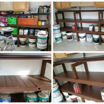 Shelving From Pallets And Other Recycled Materials - All Free!