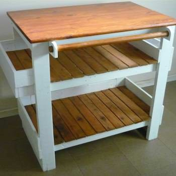 Chef Pallet Kitchen Island Table