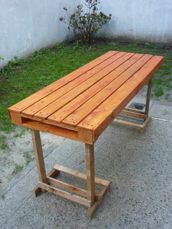 Extra Table For Many Guests Pallet Desks & Pallet Tables