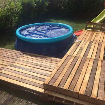 Swimming Pool Pallet Deck