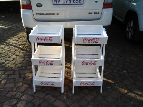 3 Tier Coca Cola All Purpose Stands Pallet Shelves & Pallet Coat Hangers