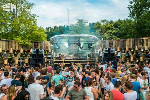 600 Pallets Structure @extrema Outdoor, Music Festival in The Netherlands Lounges & Garden Sets