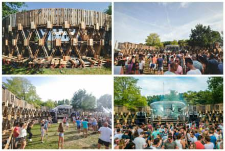 600 Pallets Structure @extrema Outdoor, Music Festival in The Netherlands