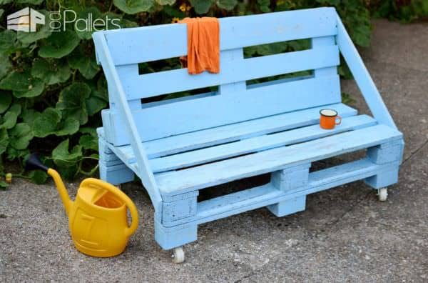 Aquamarine Pallet Bench Pallet Benches, Pallet Chairs & Stools