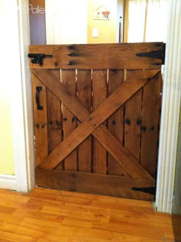 Baby or Dog Gate Made With Only One Pallet Pallet Walls & Pallet Doors