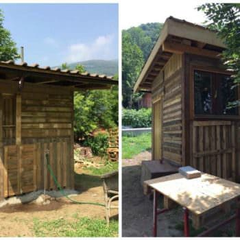 Garden Hut Made Out Of 20 Reclaimed Pallets
