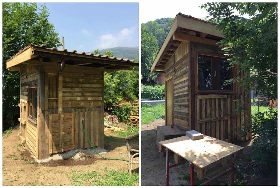 Garden Hut Made Out Of 20 Reclaimed Pallets 1001 Pallets