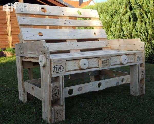 Natural Style Pallet Bench Pallet Benches, Pallet Chairs & Stools