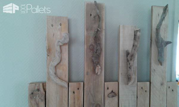 Pallet Coat Rack Without Having To Fix It On The Wall Pallet Shelves & Pallet Coat Hangers