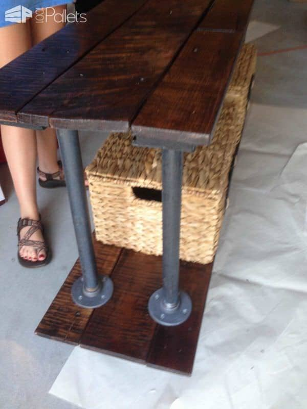 Pallet Coffee / Breakfast Station DIY Pallet Bars
