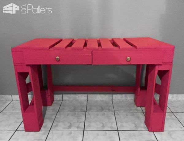 Pallet Desk With Drawers / Escritorio Pallet Desks & Pallet Tables