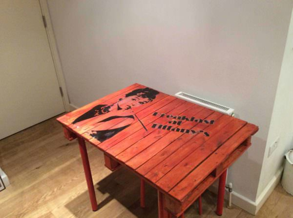 Pallet Dining Room Table Pallet Desks & Pallet Tables