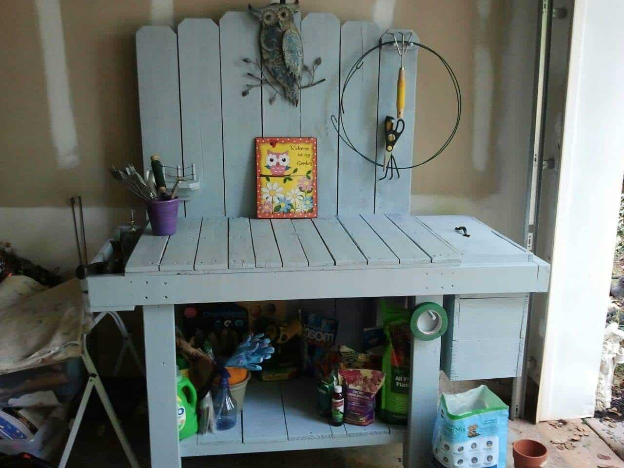 Pallet Potting Bench • 1001 Pallets