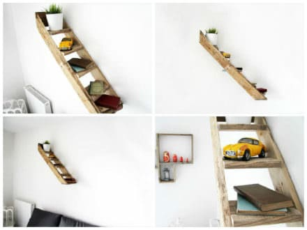 Pallet Stair Shelf