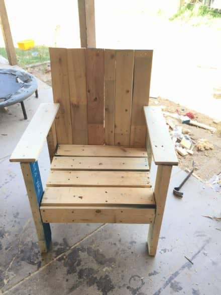 Patio Pallet Chair