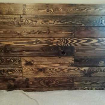 Queen Size Pallet Bed Headboard