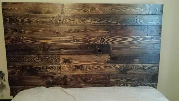 Queen Size Pallet Bed Headboard DIY Pallet Bed Headboard & Frame