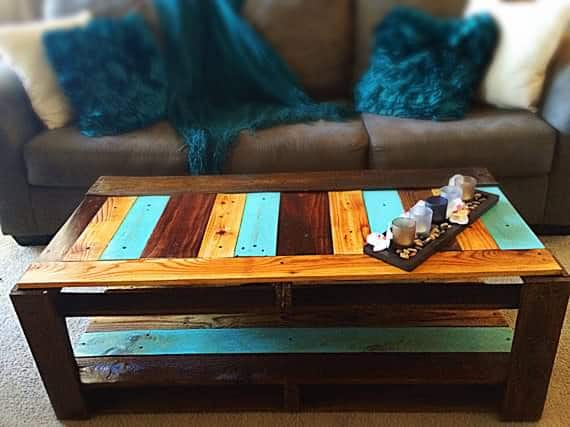 Charred Pallet Coffee Table 1001 Pallets