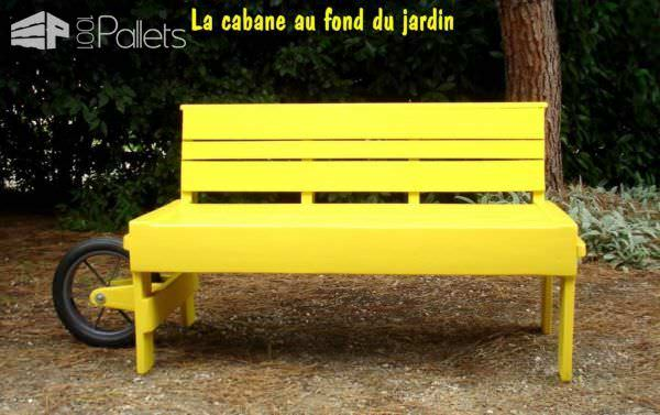 Rollbench, Le Banc Qui Roule / Rollbench, The Pallet Rolling Bench Pallet Benches, Pallet Chairs & Stools