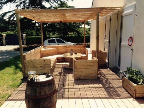 salon de jardin pallet garden set lounges garden setspallet benches pallet chairs - Photo Salon De Jardin