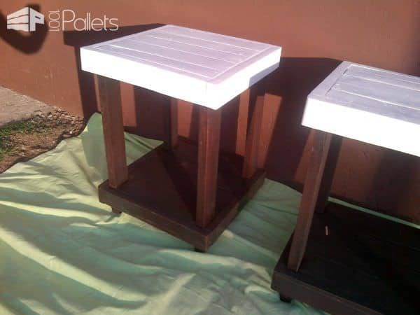 Top Deck Bedside Table Out Of Reclaimed Pallets Pallet Desks & Pallet Tables
