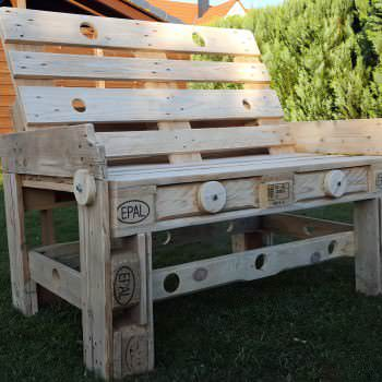 Natural Style Pallet Bench