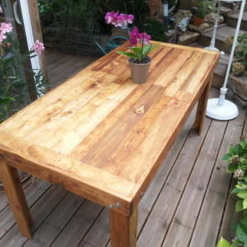 Table À Manger En Bois De Palettes / Reclaimed Pallets Wood Dining Table