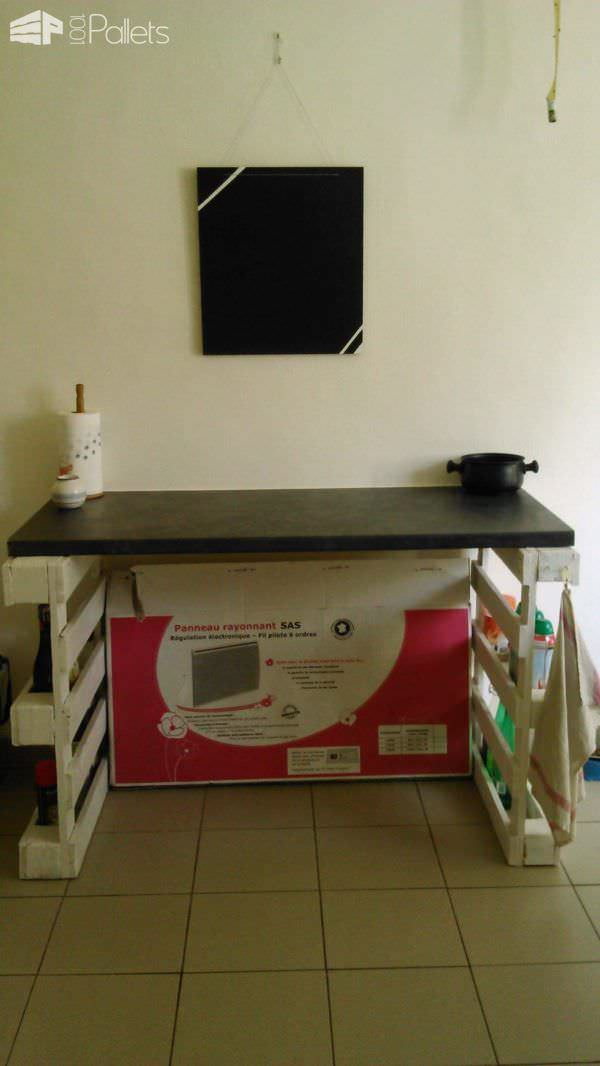 Pallet Worktop / Plan De Travail Pallet Desks & Pallet Tables