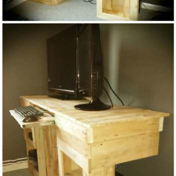 Pallet Pc & Entertainment Desk
