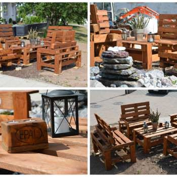 Pallet Bench & Chair Garden Set