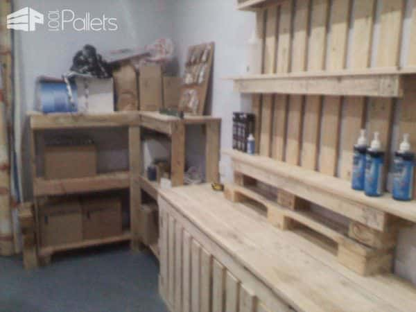 Shop Furniture Made Out Of Discarded Pallets Pallet Store, Bar & Restaurant Decorations