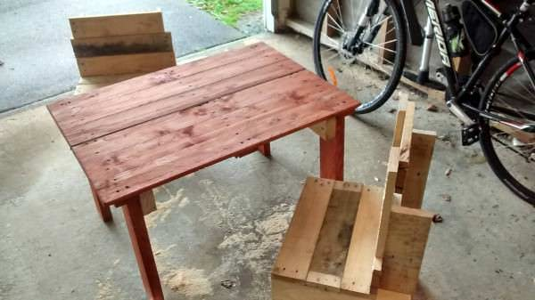 Kids Table and Chairs Fun Pallet Crafts for Kids