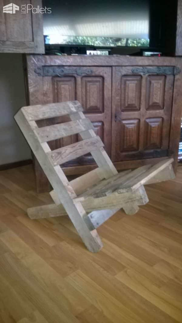 Chaise Emboitable En Palette / Stackable Pallet Chair Pallet Benches, Pallet Chairs & Stools