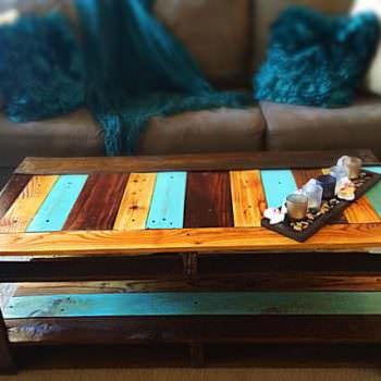Repurposed Pallet Wood Coffee Table