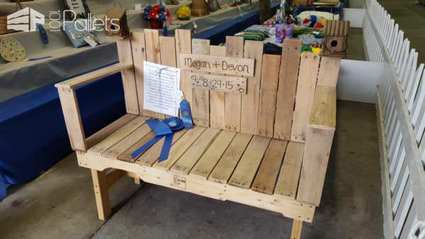Pallet Wedding Bench Pallet Benches, Pallet Chairs & Pallet Stools